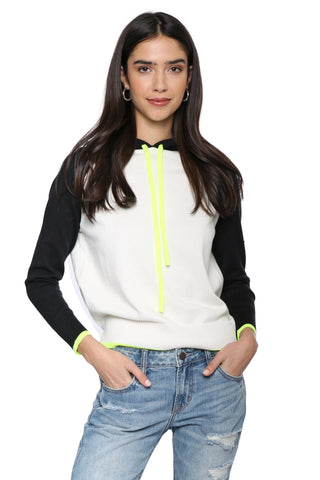 Decker Luxe Two Tone Hoodie With Neon String