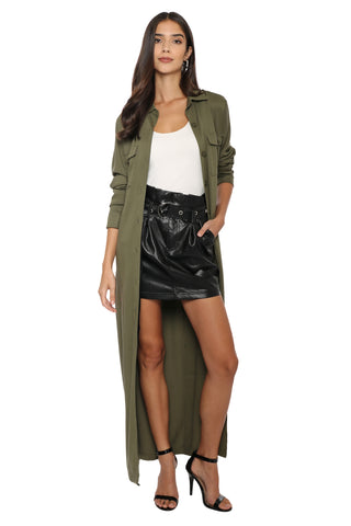 Robertson & Rodeo Paper Bag Faux Mini Skirt