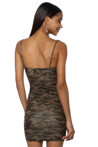 Brooklyn Karma Camo Mini Dress