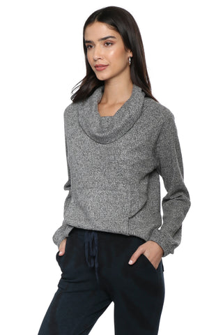Z Supply The Waffle Thermal Cowl Top