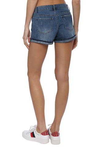 Tractr Blu 5 Pkt Cuff Destructed Shorts