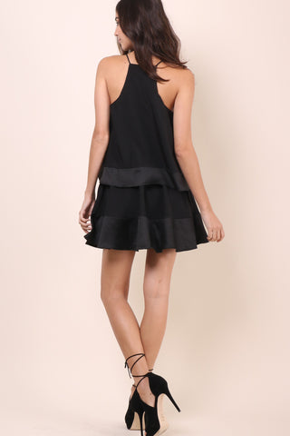 Bianca Cascades Dress- Black