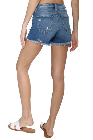 Flying Monkey High Rise Raw Hem Shorts