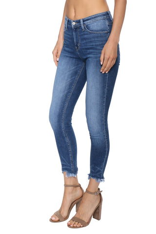 Flying Monkey Uneven Hem Skinny Jeans