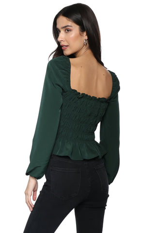 Gab & Kate Emerald Smock Top