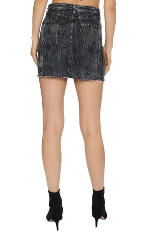 Brooklyn Karma Acid Wash Mini Skirt