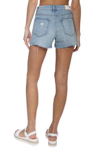 Hidden Denim Shorts W/ Side Stripes