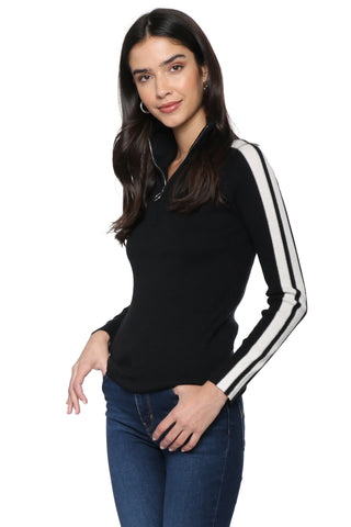 Decker Luxe Half Zip With White Stripe