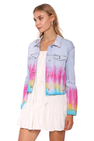 Tractr Blu Relaxed Cropped Jacket