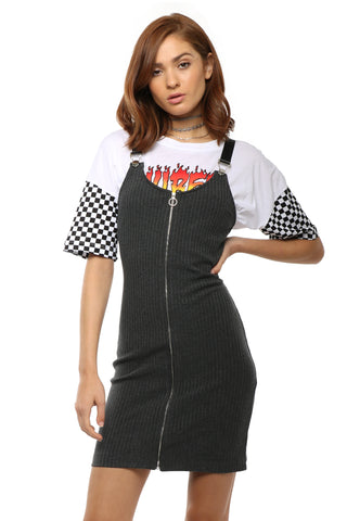 Brooklyn Karma Rachel Overall Zip Dress