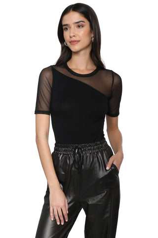 Brooklyn Karma Mesh Short Sleeve Top