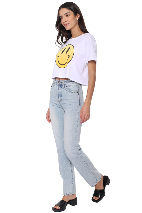 Be Happy Crop Tee