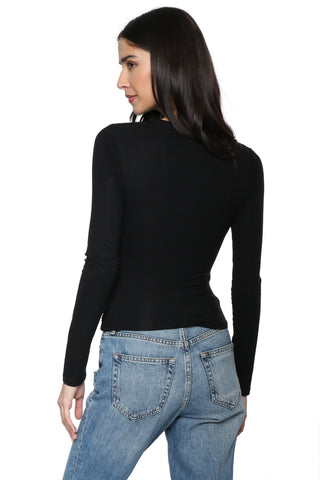 Z Supply The Micro Rib Wrap Top