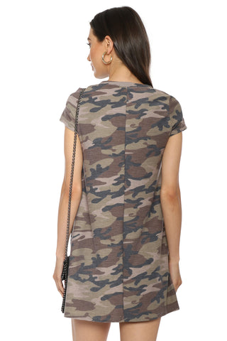 Brooklyn Karma Camo Tee Dress