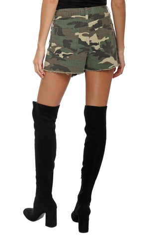 Brooklyn Karma Camo Front Wrap Mini Skort