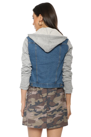 Brooklyn Karma Denim Sweatshirt Jacket