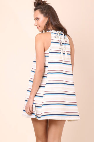 Moon River Stripe Printed Dress