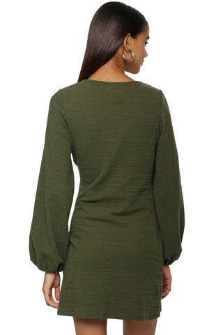 Gab & Kate Tie Front L/S Dress