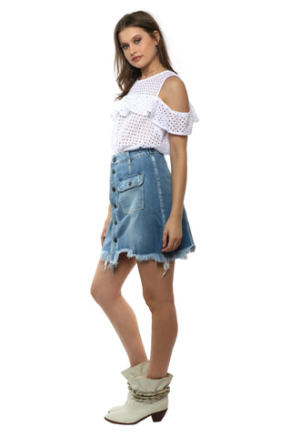 Gab & Kate Charmer Eyelet Top