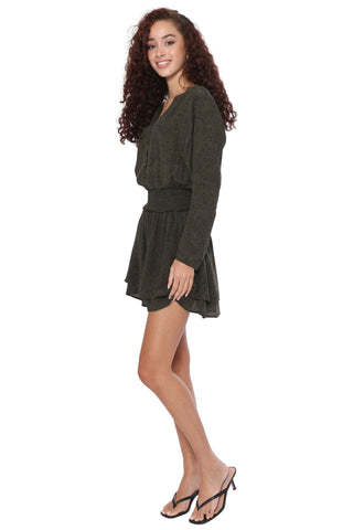 Rails Jasmine Dress- Olive Speckled