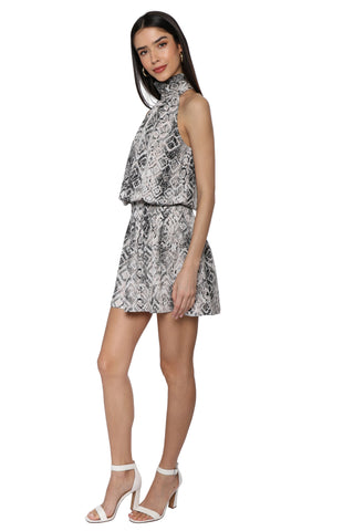 Robertson & Rodeo Mock Neck Snake Dress