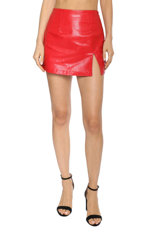 Brooklyn Karma Leather Mini Skirt