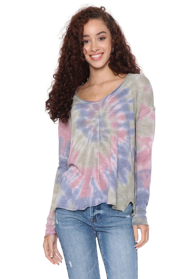Project Social T Fall Feeling Tie Dye Long Sleeve