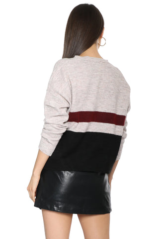 Fox + Hawk Knit Color Block Sweater