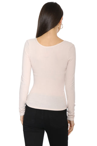 Jac Parker Not So Basic Ribbed LS Top