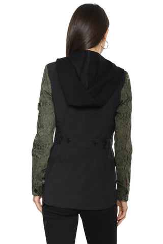 Decker Snake Sleeve Hooded Blazer