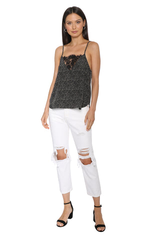Robertson & Rodeo Lace Front Leopard Cami
