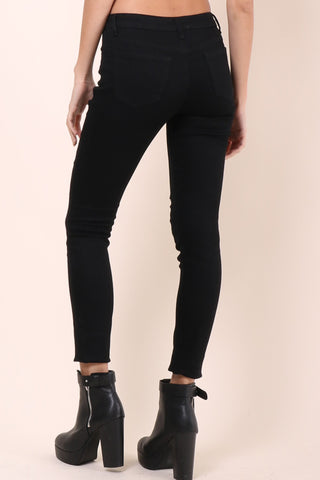 Brooklyn Karma Distressed Skinny Jeans - Black