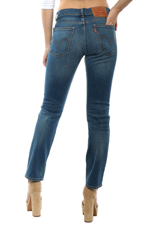 Levi's 505 Cropped Blue Cheer Jeans