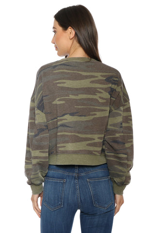 Z Supply Camo Oversized Fleece Pullover