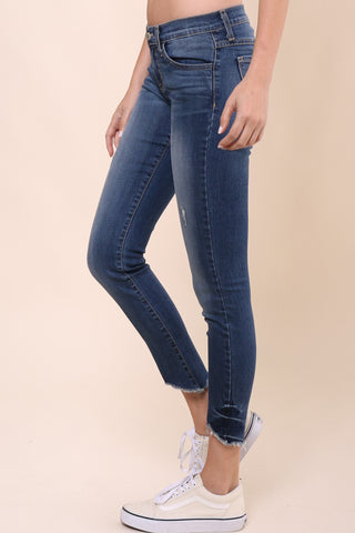 Flying Monkey Cropped Frayed Skinny