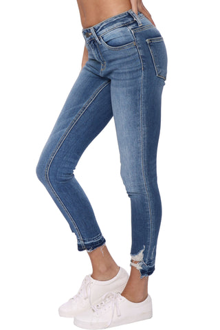 Vervet MR Release Button Crop Skinny