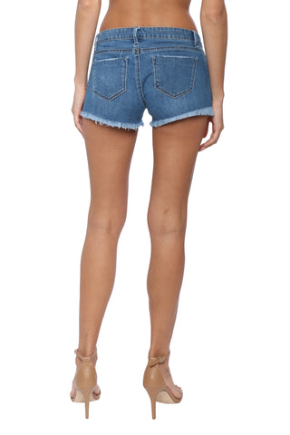 Tractr Blu Frayed Denim Shorts
