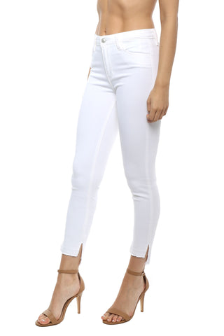 Just Black High Rise White Crop Skinny Jean