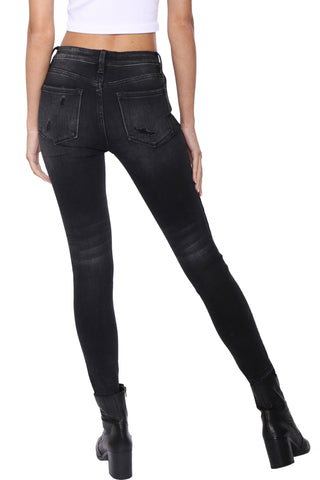 Vervet MR Distressed Released Side Jean