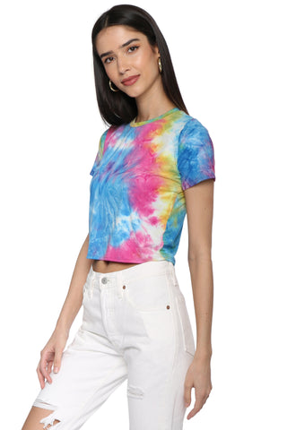 Sunday Stevens Tie Dye Crop Top