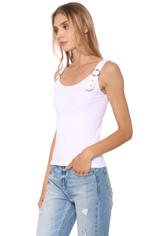 Suzette Mini Rib Buckle Tank