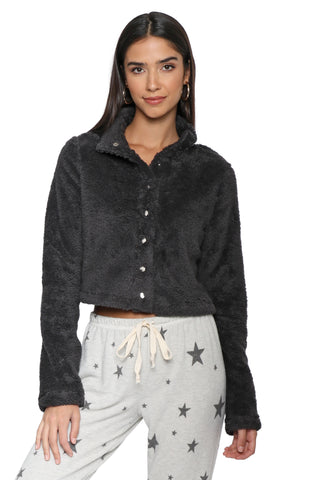 Gab & Kate Cropped Teddy Bomber