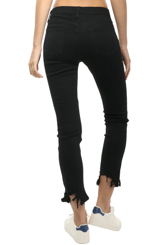 Just Black Destroyed Cropped Skinny