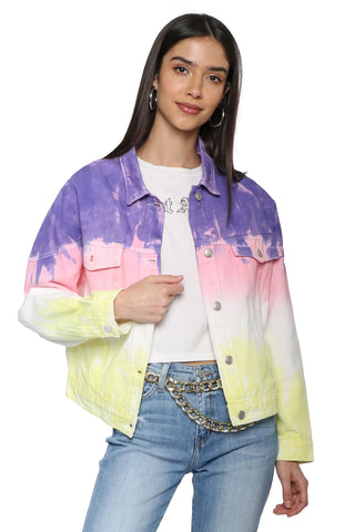 Brooklyn Karma Tie Dye Denim Jacket