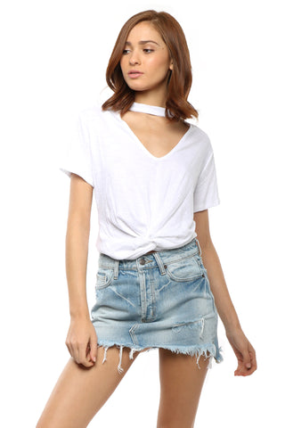 Jac Parker Knotted Choker Tee