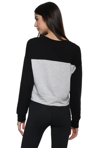 Sunday Stevens Color Block Stripe Pullover