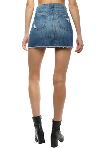 Flying Monkey Fray Hem Mini Skirt