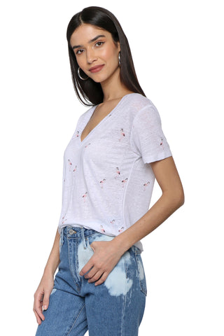 Rails Cara Tee Retro Flamingos