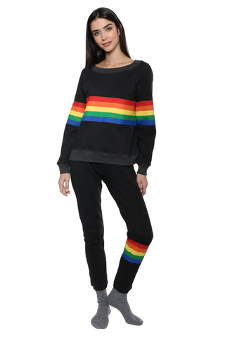 Saturday School Rainbow Stripe Sweatpants
