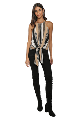Darah Dahl Willow Tie Front Top